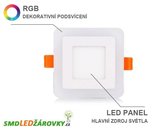 led panel tvercov vestavn 18w tepl rgb stm vateln. Black Bedroom Furniture Sets. Home Design Ideas