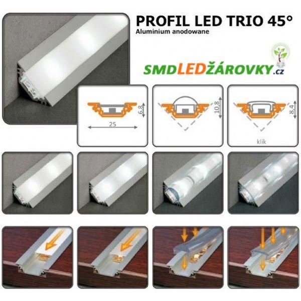 Hliníkový profil TRIO 2m pro LED pásky dccbff0082