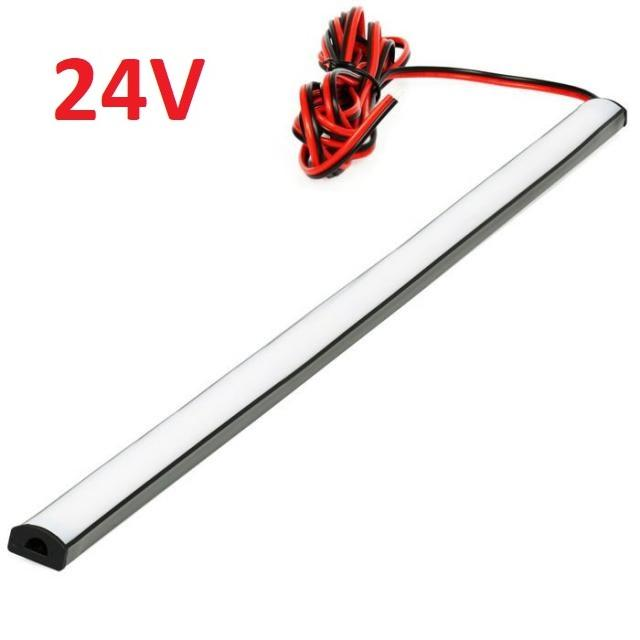LED21 SADA 24V TIR elastický gumový profil s LED páskem SMD2835 Studená bílá, 50cm