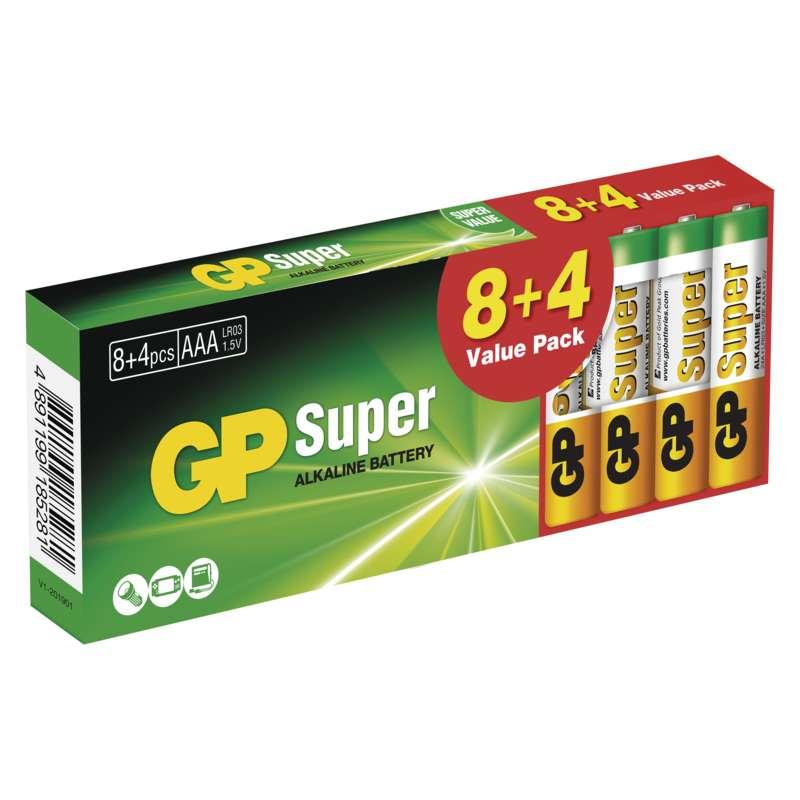 GP Batteries Alkalická baterie GP Super AAA (LR03) B1310T
