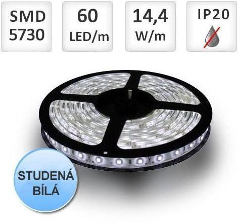 PREMIUMLUX LED pásek PROFI 60ks 5730 14,4W/m, Studená bílá, cena za 1m
