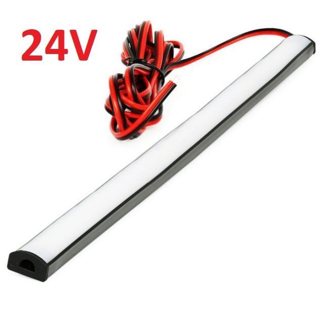 LED21 SADA 24V TIR elastický gumový profil s LED páskem SMD2835 Studená bílá, 25cm