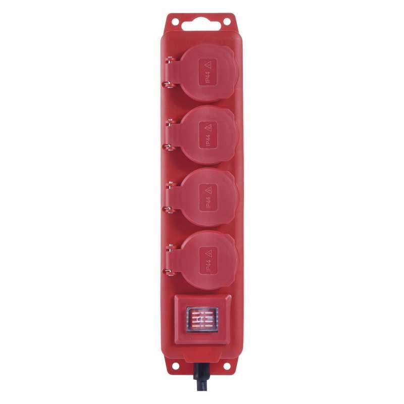 Emos Prodlužovací kabel gumový – 4 zásuvky, 3m, 1,5mm2, IP44 P14131