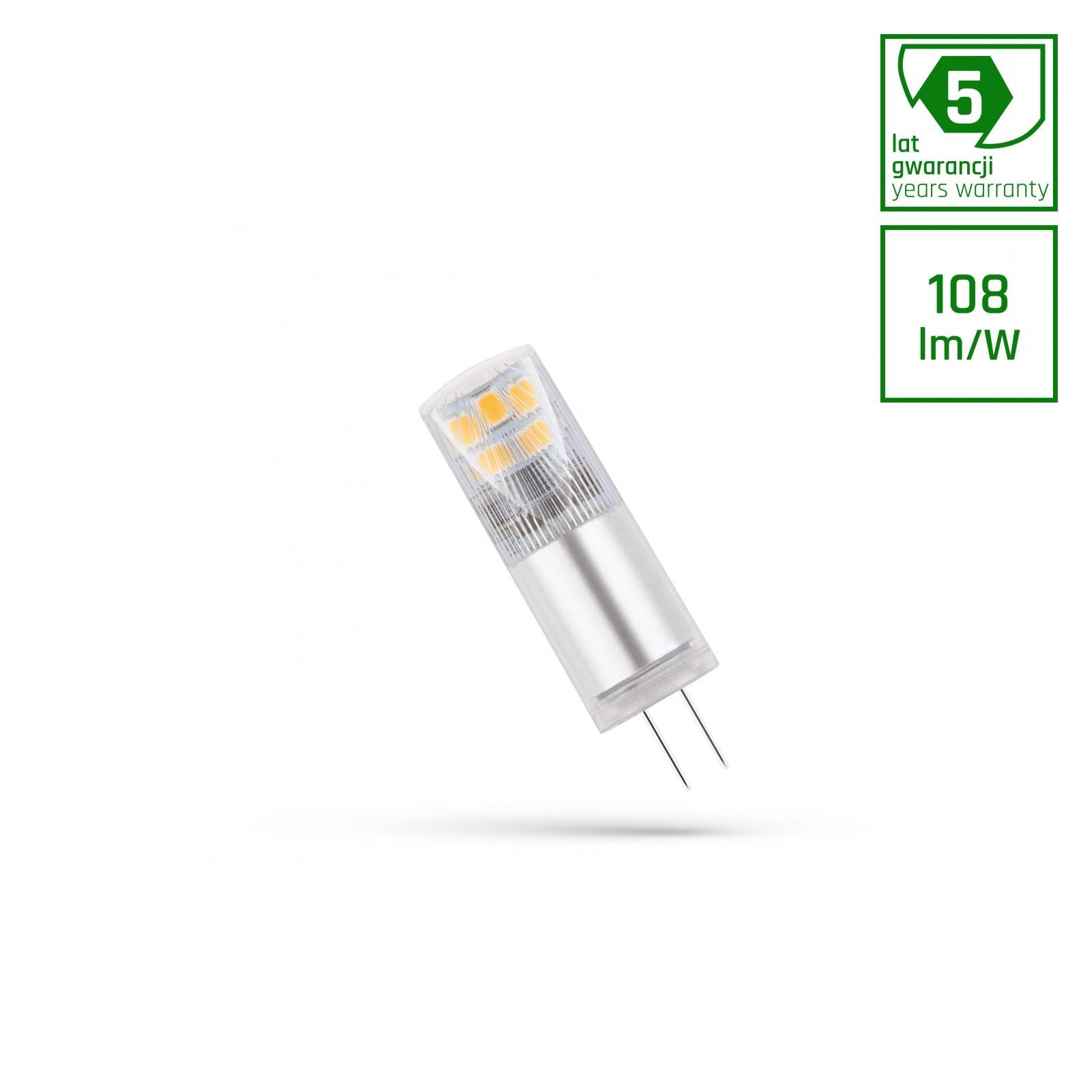 LED G4 12V 2,5W Teplá bílá 5 LAT PREMIUM SPECTRUM