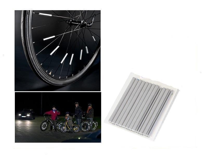 LED21 AG190B Reflexní tyčinky na výplet (dráty špice) jízdních kol, 12ks