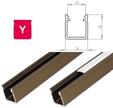 LEDLabs Hliníkový profil LUMINES Y 2m pro LED pásky, inox