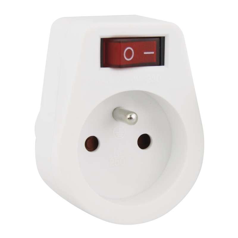 Emos Zásuvka s vypínačem, bílá P0027