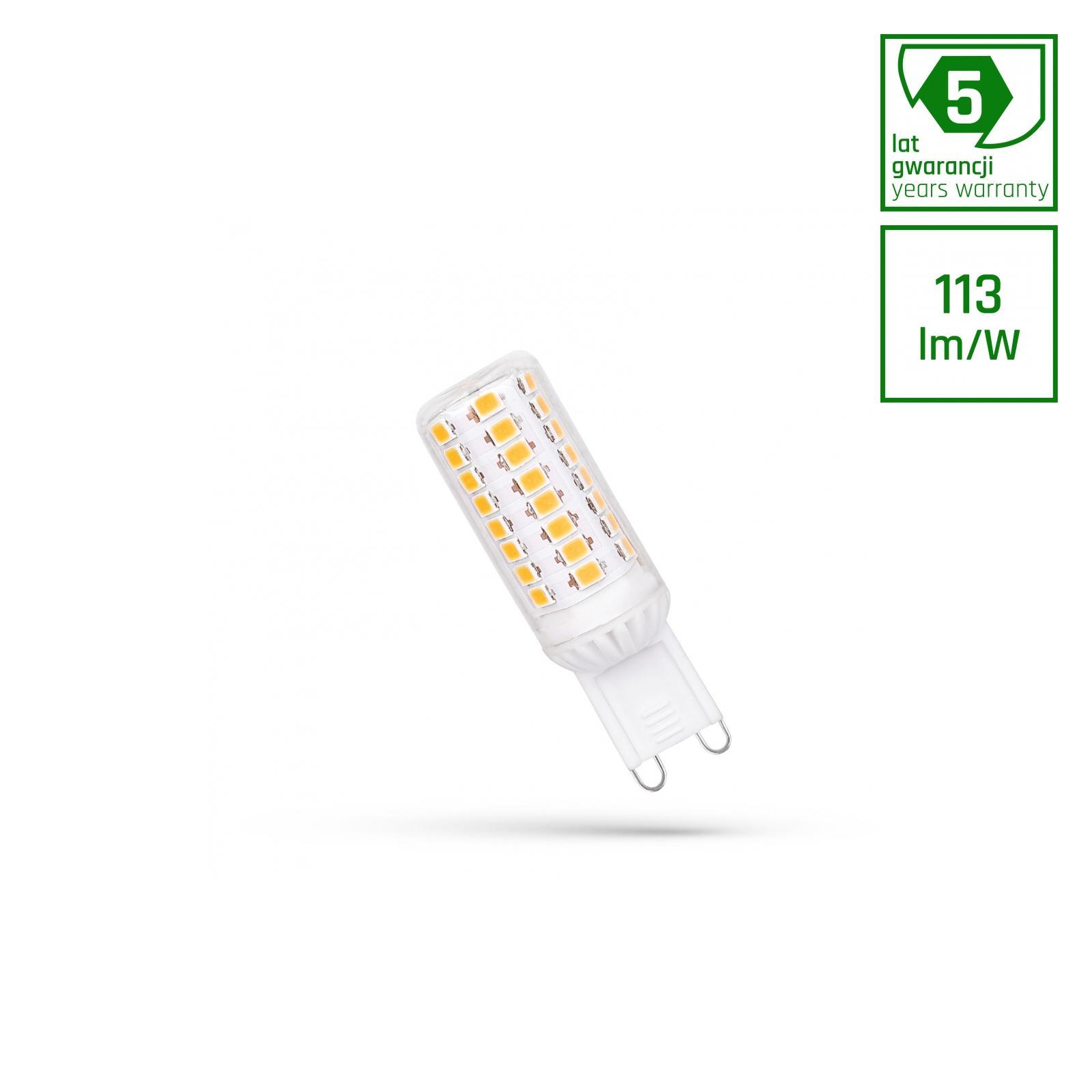 LED G9 230V 4.5W Teplá bílá SMD 5 LAT PREMIUM SPECTRUM