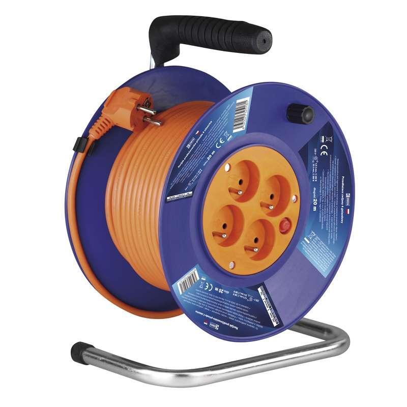 Emos PVC prodlužovací kabel na bubnu – 4 zásuvky, 20m, 1mm2 P19420