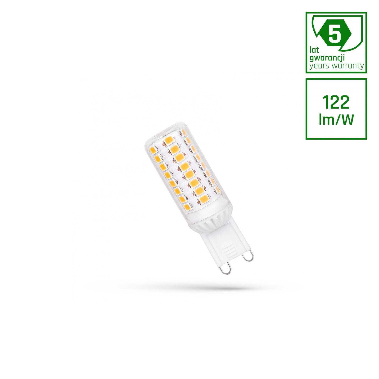 LED G9 230V 4.5W Studená bílá bíllá SMD 5 LAT PREMIUM SPECTRUM