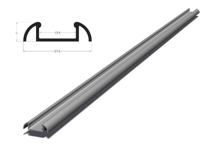 Berge Hliníkový profil BRG-2 2m pro LED pásky, stříbrný eloxovaný