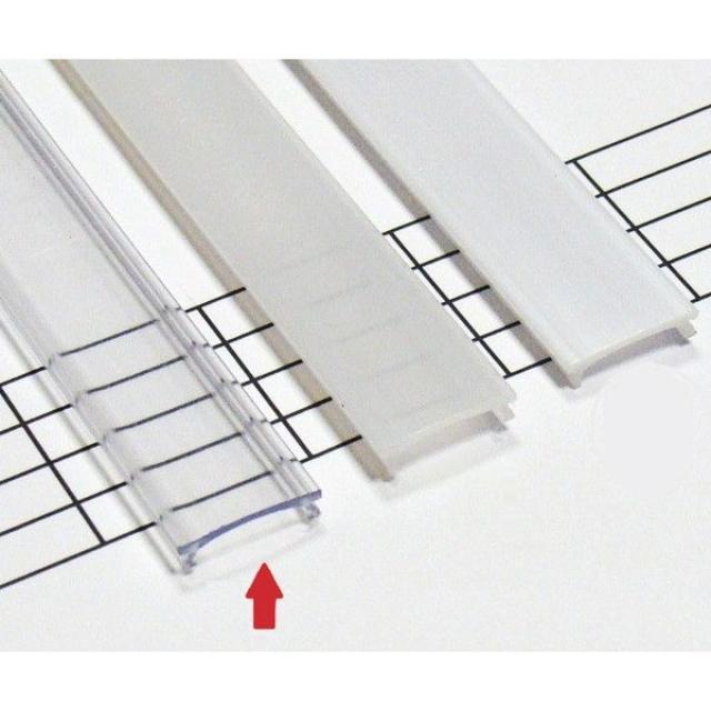 LEDLabs Transparentní difuzor HIGH KLIK pro profily LUMINES A/B/C/D/G/H/Z/Y 1m