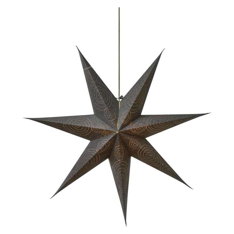 Emos LED vánoční hvězda papírová stříbrná, 75cm ZY2248