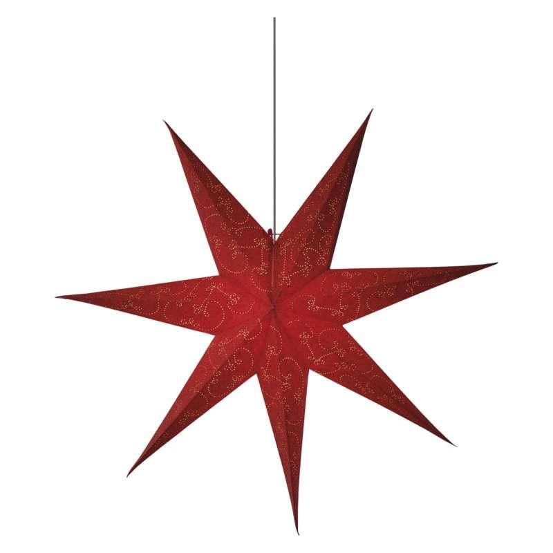 Emos LED vánoční hvězda papírová červená, 75cm ZY2249