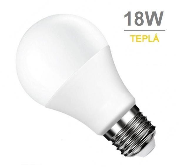 LED21 LED žárovka 18W 27xSMD2835 1440lm E27 CCD Teplá bílá