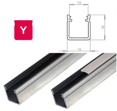 LEDLabs Hliníkový profil LUMINES Y 2m pro LED pásky, hliník