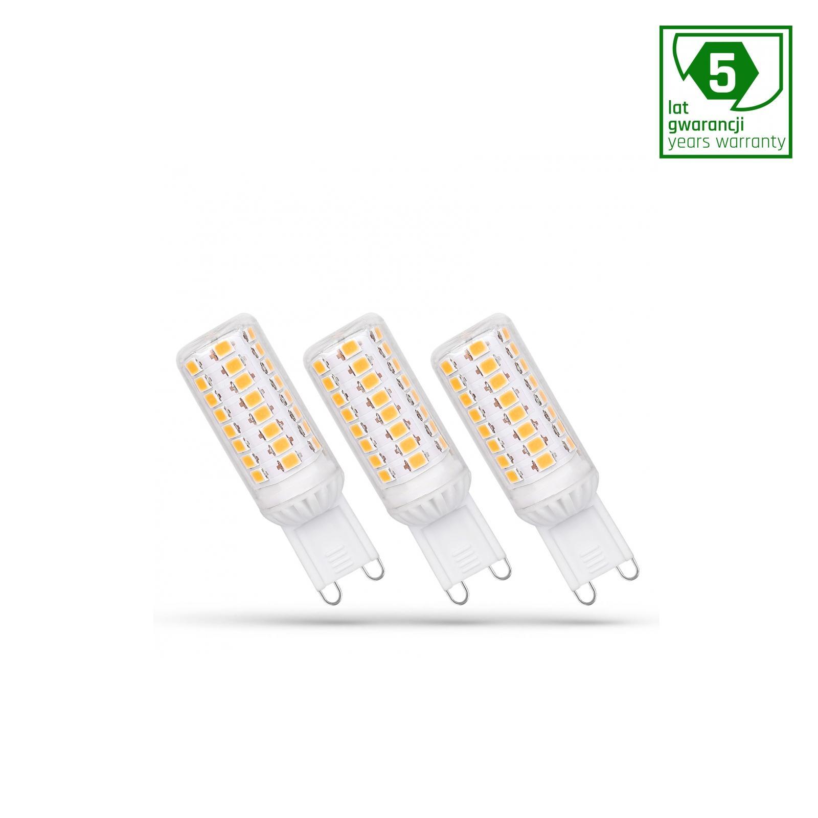LED G9 230V 4W Teplá bílá stmívatelné SMD 5 LAT PREMIUM SPECTRUM 3-PACK