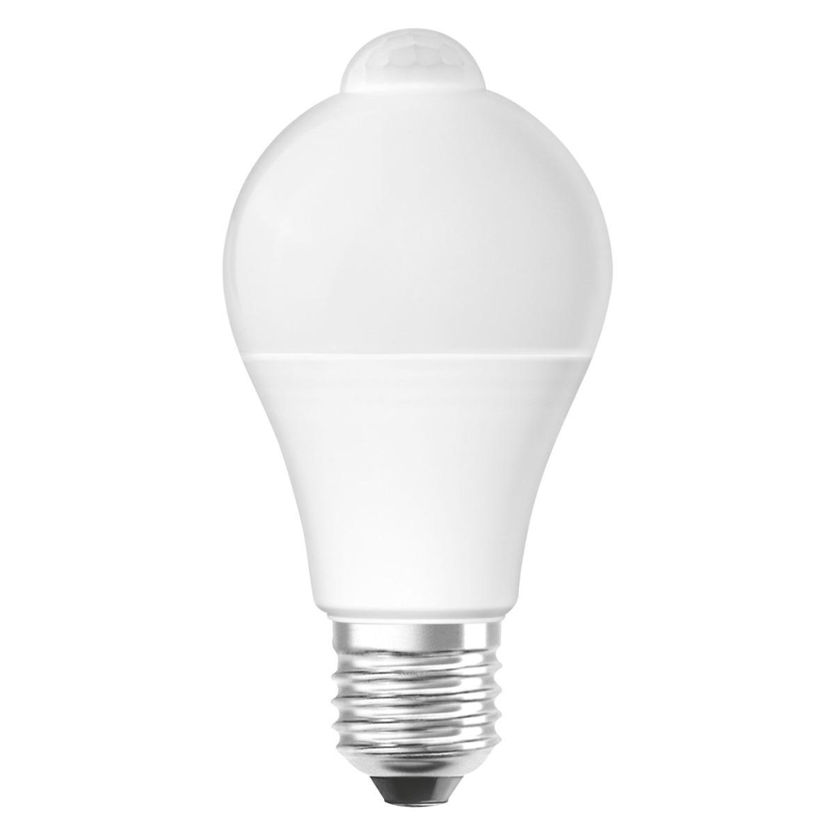 LED žárovka LED A60 E27 9W = 60W 2700K Teplá bílá 806lm pohybové čidlo STAR OSRAM OSRLEDC0105