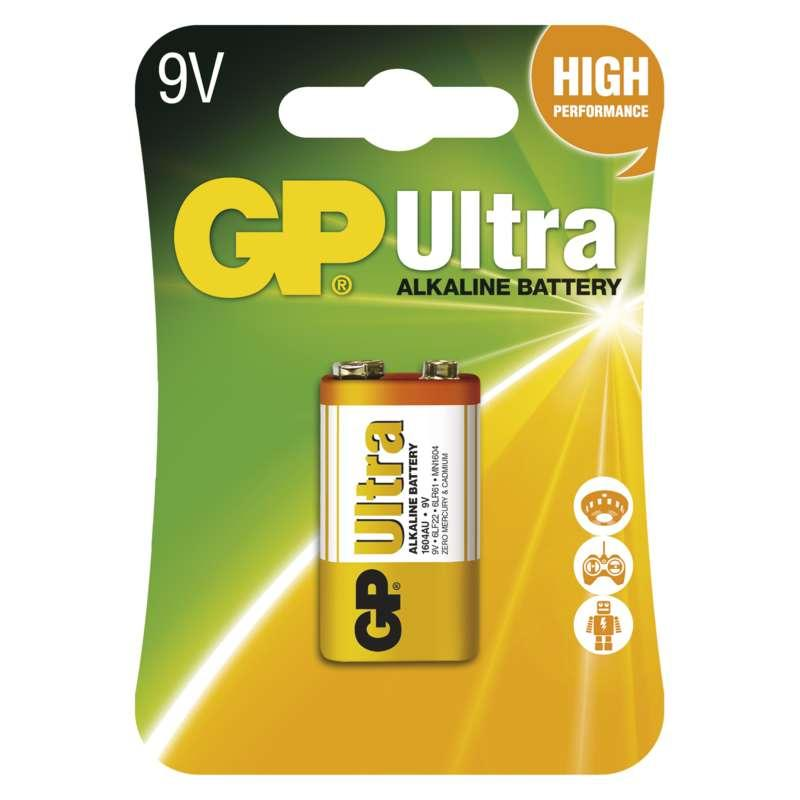 GP Batteries Alkalická baterie GP Ultra 9V (6LF22) B1951