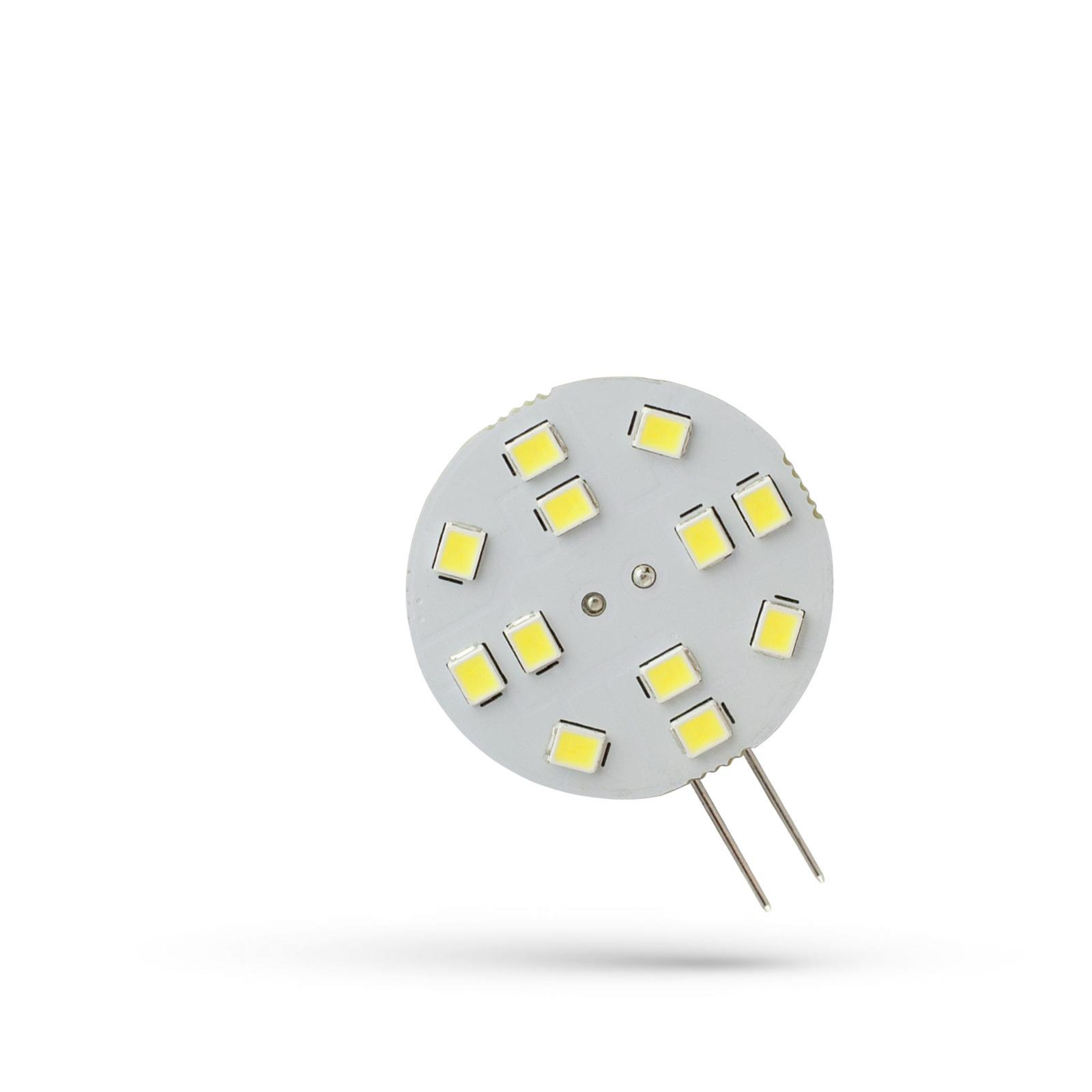 LED G4 12V 2W 12 LED Studená bílá bíllá 30MM SPECTRUM