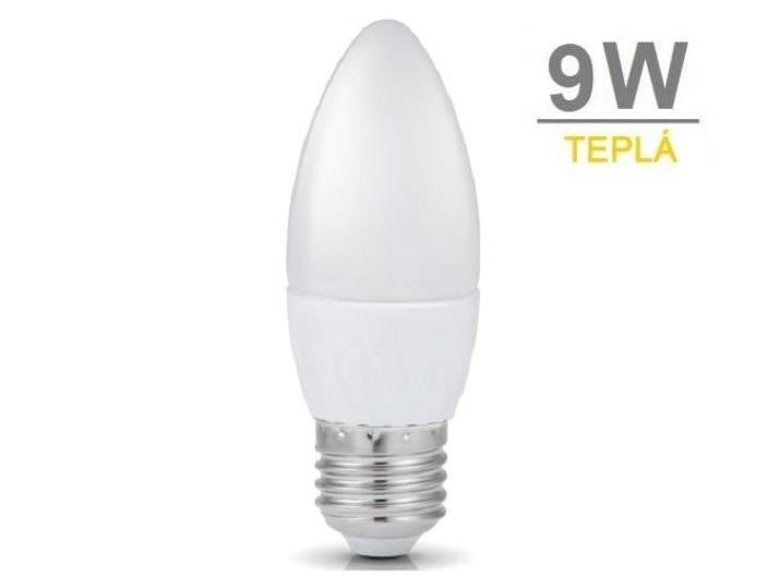 LED21 LED žárovka 9W 12xSMD2835 E27 675lm Teplá bílá