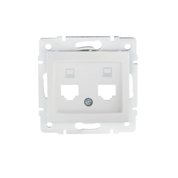 Kanlux 25930 DOMO Adaptér datové zásuvky 2xRJ45 - bílý