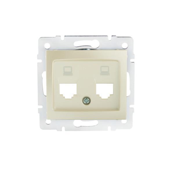 Kanlux 25934 DOMO Adaptér datové zásuvky 2xRJ45 - perlový