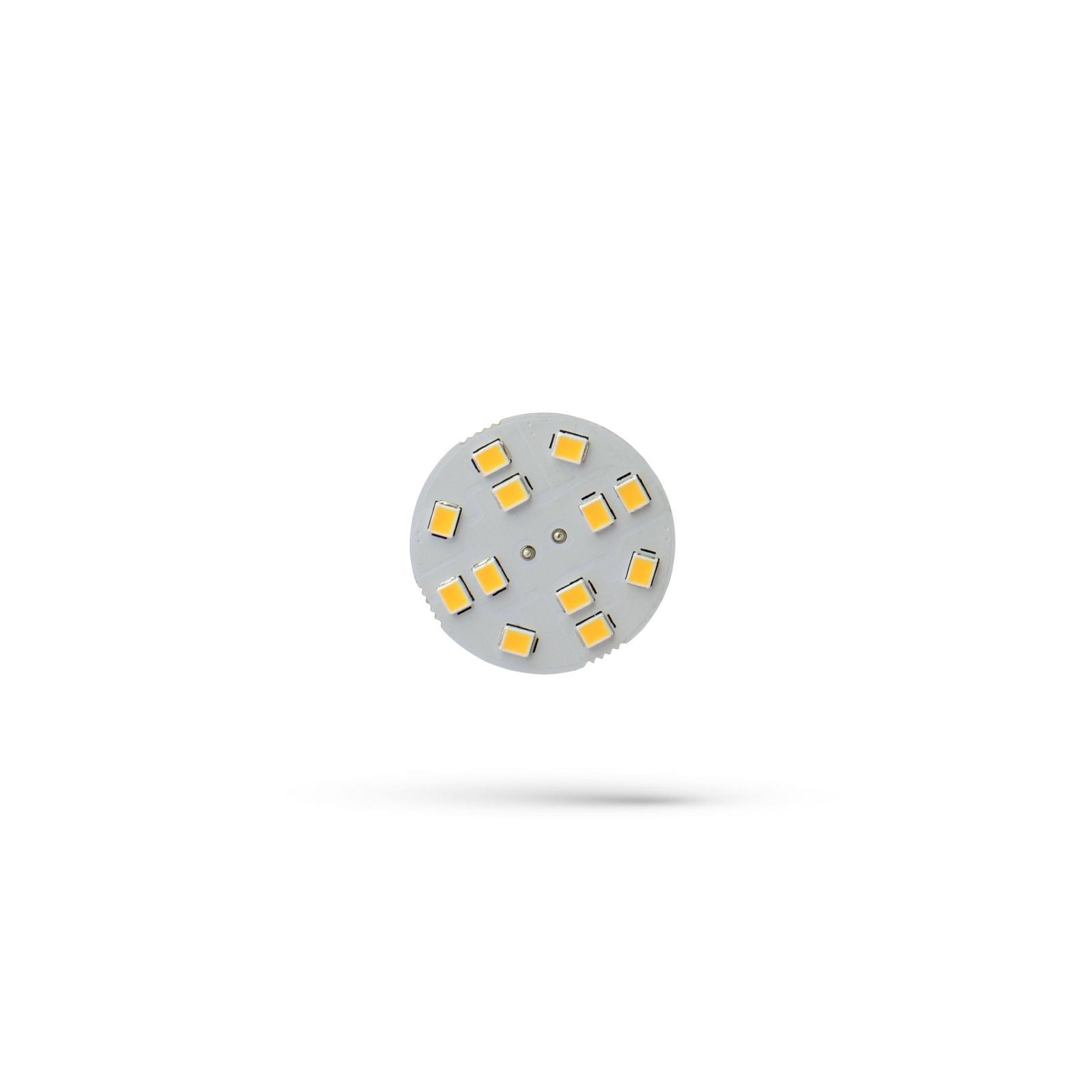 LED G4 12V 2W 12 LED Teplá bílá 30MM SPECTRUM