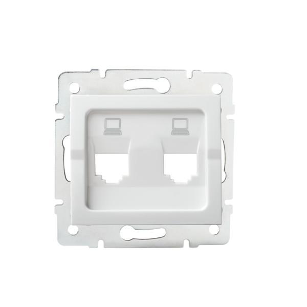 Kanlux 25936 LOGI Adaptér datové zásuvky 2xRJ45 - bílý