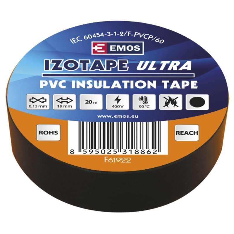 Emos Izolační páska PVC 19mm / 20m černá F61922