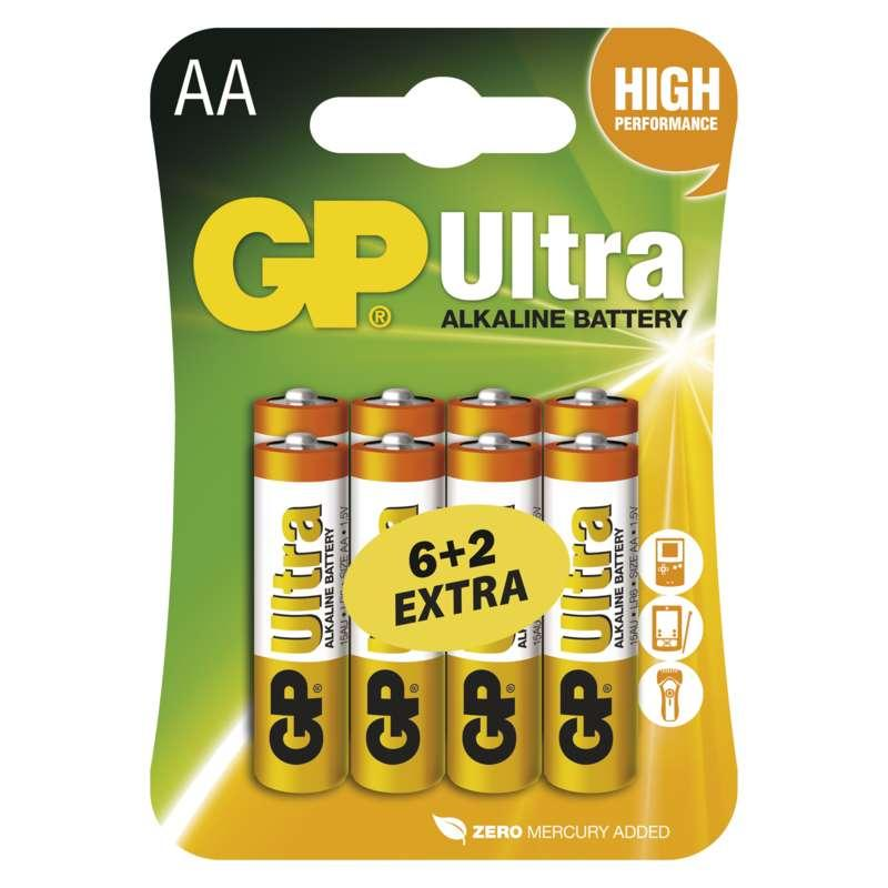 GP Batteries Alkalická baterie GP Ultra AA (LR6) B19218