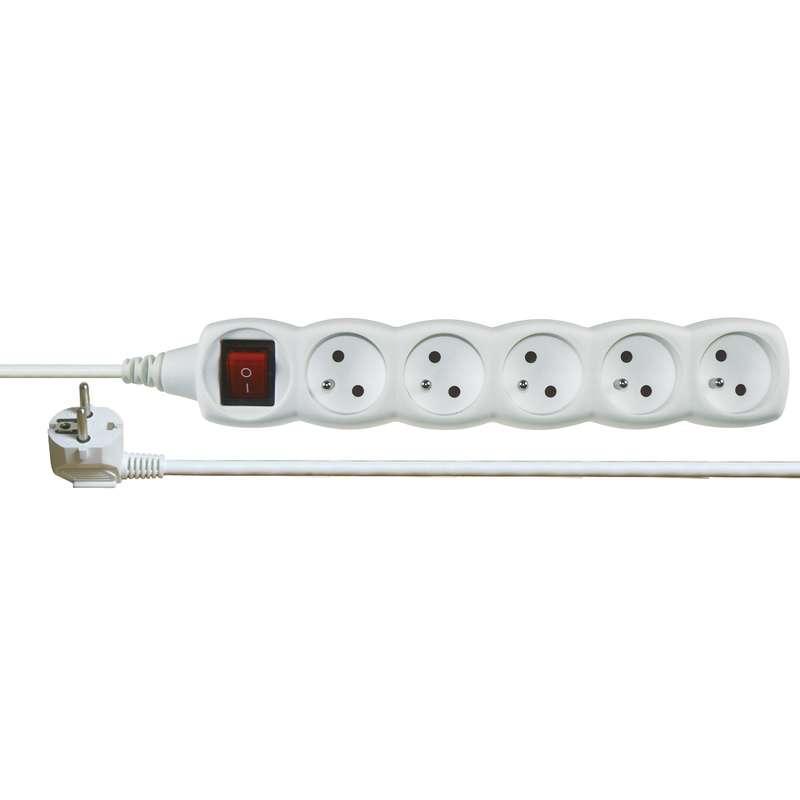 Emos Prodlužovací kabel s vypínačem – 5 zásuvek, 3m, bílý P1513