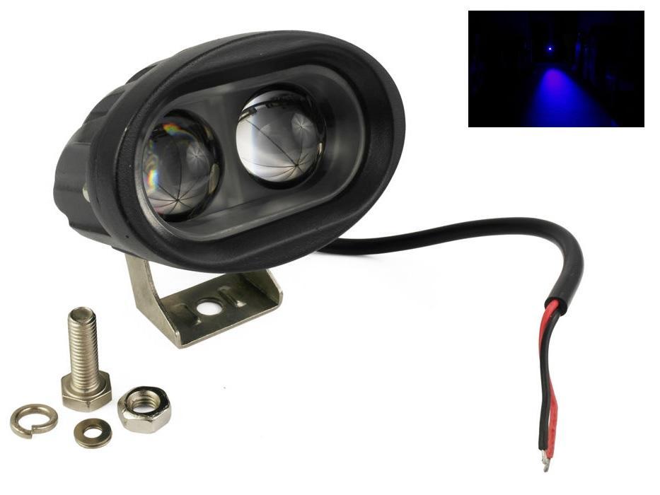 Interlook LED výstražné svítidlo 20W 2xSMD W5020 SPOT, pracovní ,voděodolné, otřesuvzdorné, modrá