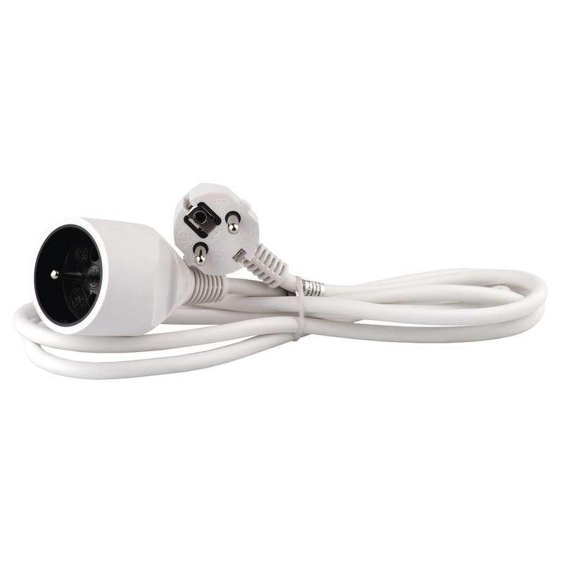 Emos Prodlužovací kabel – spojka, 2m, bílý P0112