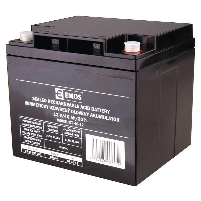 Emos Bezúdržbový olověný akumulátor 12 V/40 Ah M6 B9684