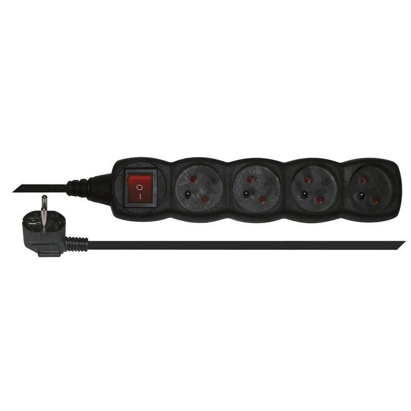 Emos Prodlužovací kabel s vypínačem – 4 zásuvky, 3m, černý PC1413