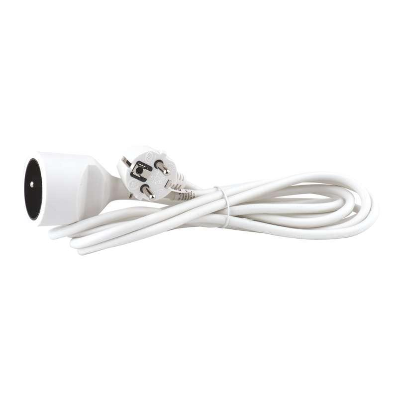Emos Prodlužovací kabel – spojka, 3m, bílý P0113