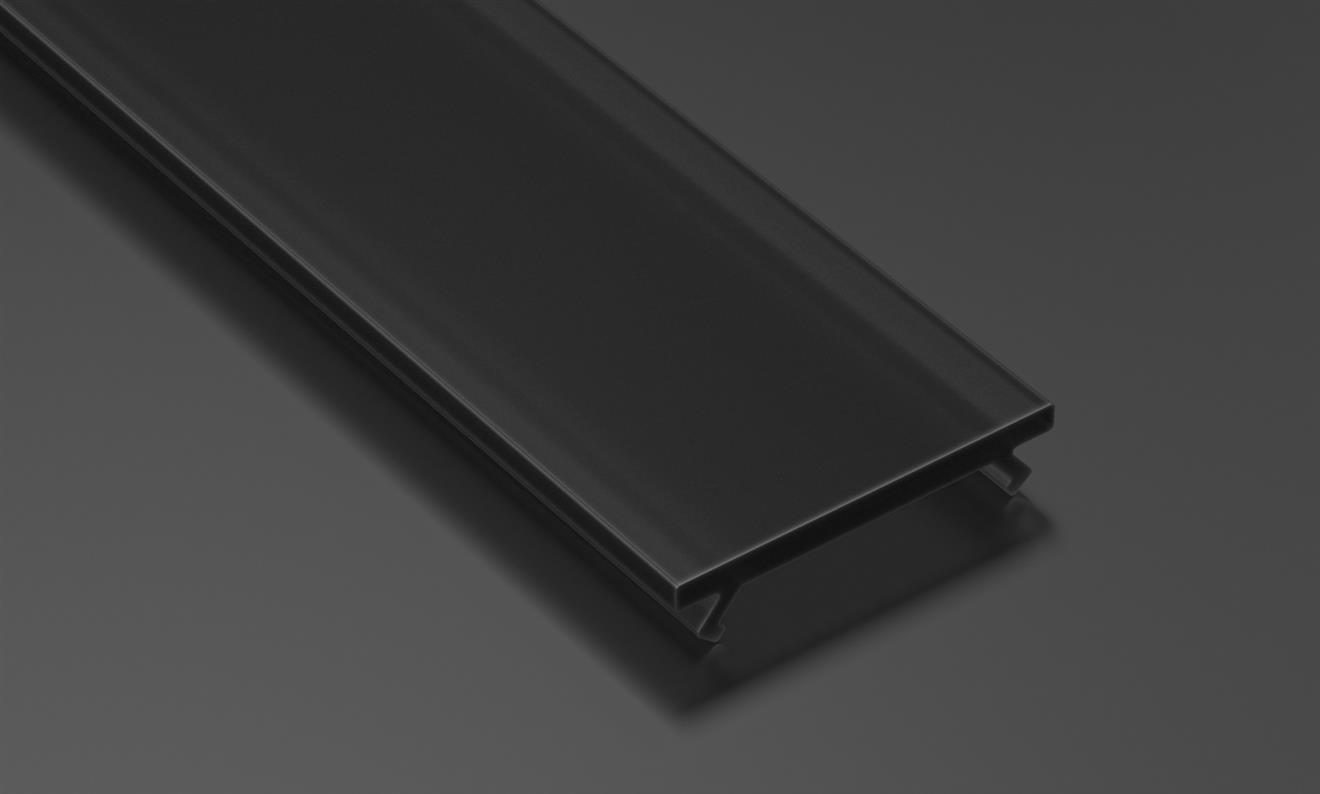 LEDLabs Difuzor BASIC BLACK pro profily A/B/C/D/G/H/Z/Y 2m