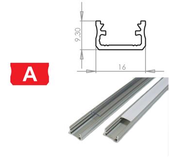 LEDLabs Hliníkový profil LUMINES A 2m pro LED pásky, stříbrný eloxovaný