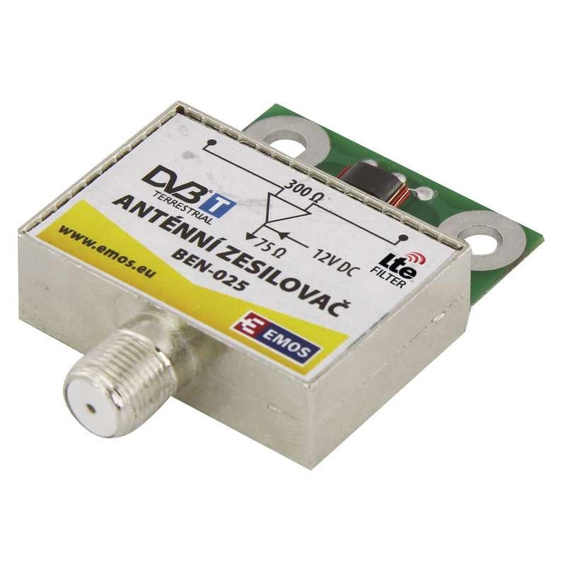 Emos Anténní předzesilovač 25dB VHF/UHF J5802