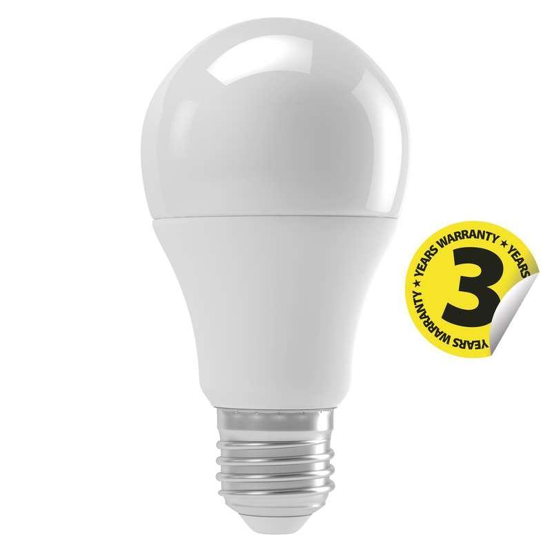Emos LED žárovka E27 9W Classic A60 pohybový senzor teplá bílá ZQ5140M