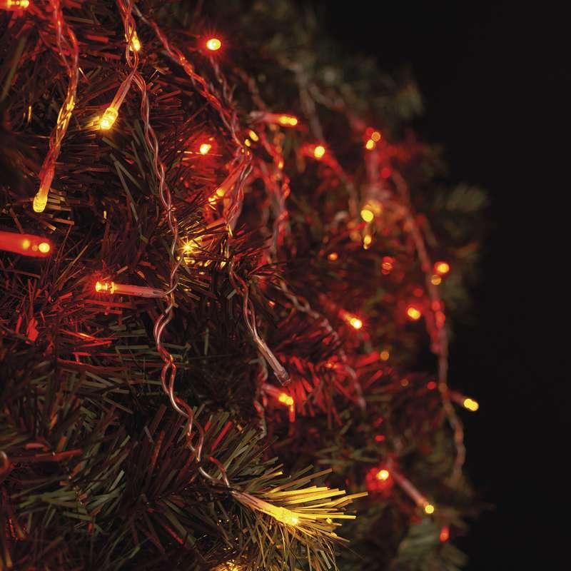 Spoj. Standard LED řetěz pulzující – rampouchy,2,5m,č./ja.