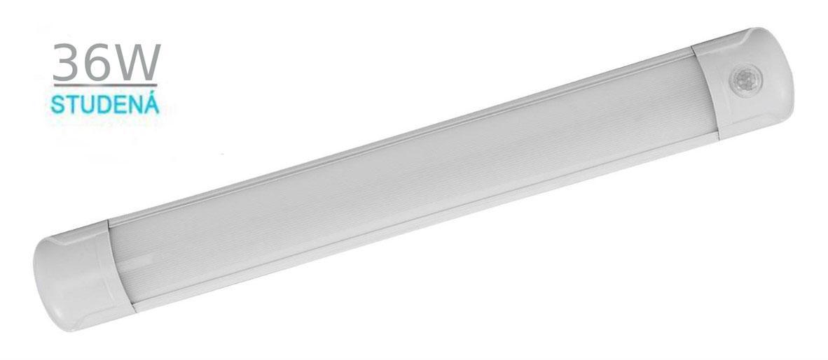 LED21 LED panel LINEA SLIM S PIR čidlem, přisazený 36W 120cm 2880lm CCD NEUTRÁLNÍ BÍLÁ HDS3602S
