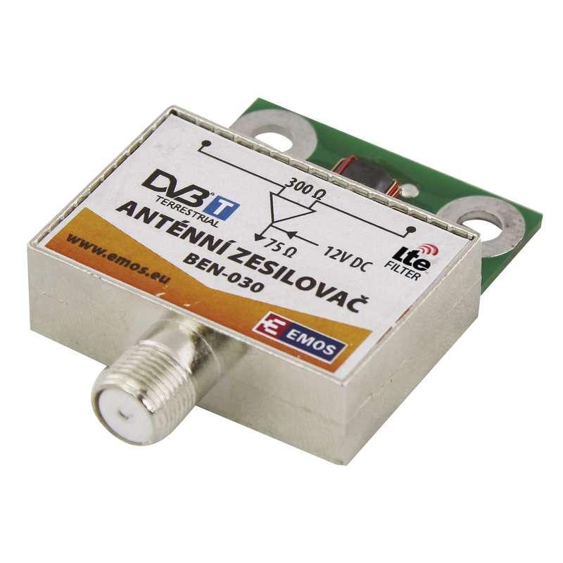 Emos Anténní předzesilovač 30dB VHF/UHF J5803