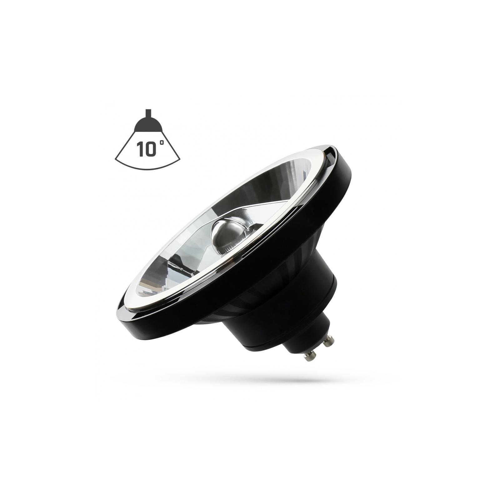 LED AR111 GU10 230V 15W COB 10ST Teplá bílá Černá SPECTRUM