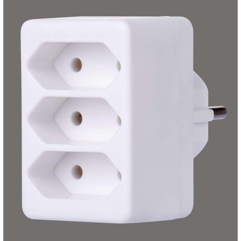 Emos Rozbočovací zásuvka 3× plochá, bílá P0013