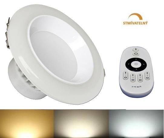 LED21 LED panel DOWNLIGHT 12W CCT stmívatelný 120mm 750lm 230V CCD IP50 CB3257