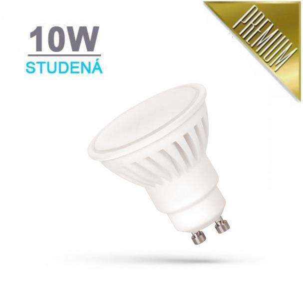 LED21 LED žárovka PREMIUM 10W 18xSMD2835 GU10 930lm STUDENÁ BÍLÁ