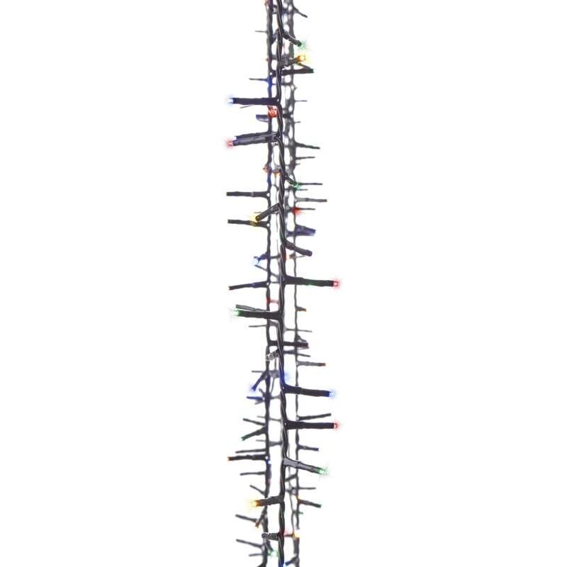 LED vánoční řetěz – ježek, 8m, multicolor, časovač