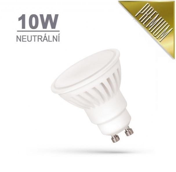 LED21 LED žárovka PREMIUM 10W 18xSMD2835 GU10 910lm NEUTRÁLNÍ BÍLÁ